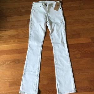NWT True Religion White Bootcut Jeans